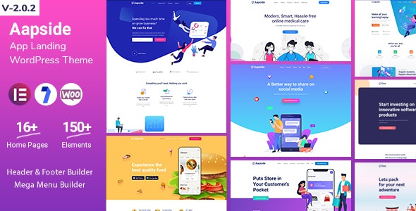 Aapside - App Landing WordPress Theme - Technology WordPress