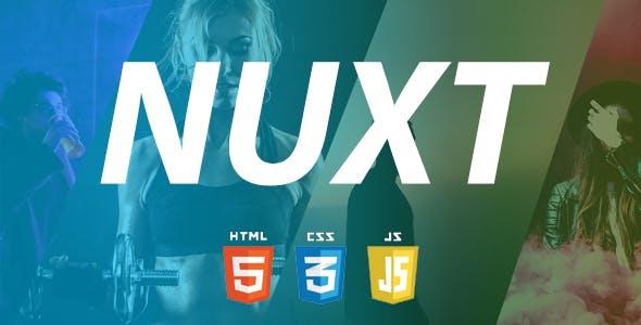 Nuxt – Creative Personal Portfolio HTML Template