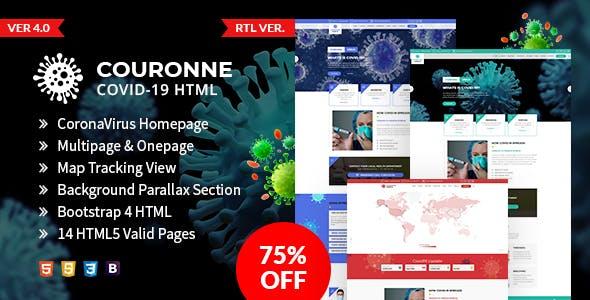 Couronne - Corona virus (Covid-19) HTML Template