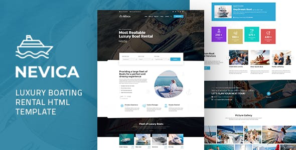 Nevica -  Luxury Boats Rental HTML