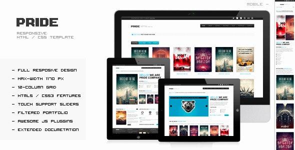PRIDE - Responsive HTML Template - Portfolio Creative