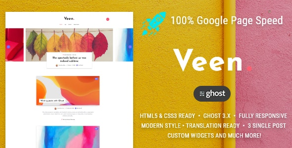 Veen - Minimal blog for Ghost - Ghost Themes Blogging