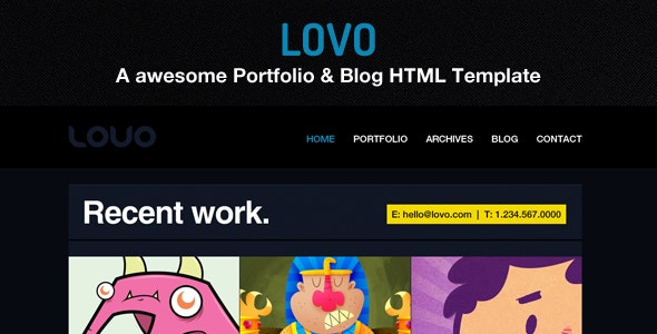 Lovo Portfolio and Blog Theme - Portfolio Creative