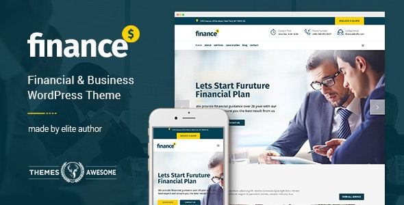 Finance - Business Accounting WordPress Theme - Business Corporate