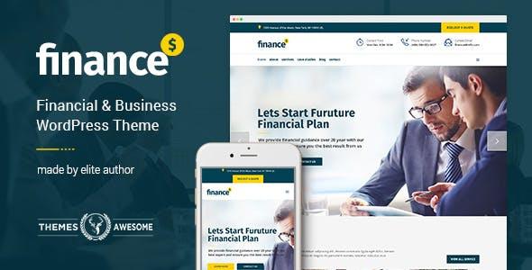 Finance - Business Accounting WordPress Theme
