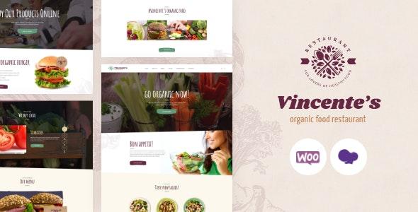 Vincente's | Organic Food Restaurant & Eco Cafe WordPress Theme - Food Retail