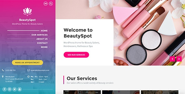 BeautySpot - WordPress Theme for Beauty Salons - Health & Beauty Retail