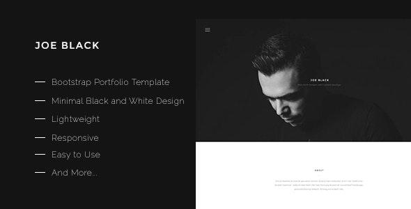 Joe Black-Bootstrap Portfolio Template - Portfolio Creative