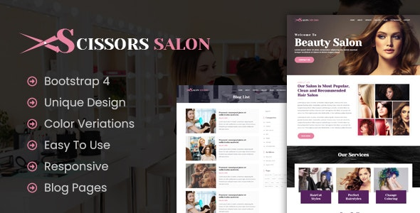 Scissors Salon - Salon Business HTML Template - Business Corporate