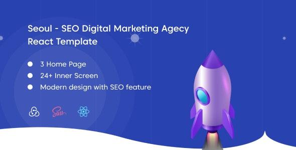 Seoul - SEO Digital Marketing Agency React Template - Marketing Corporate