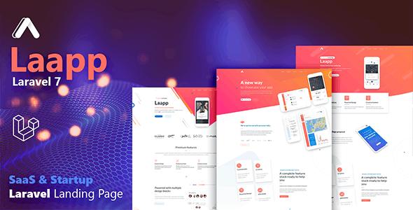 Laapp - Laravel App Landing Page - Software Technology