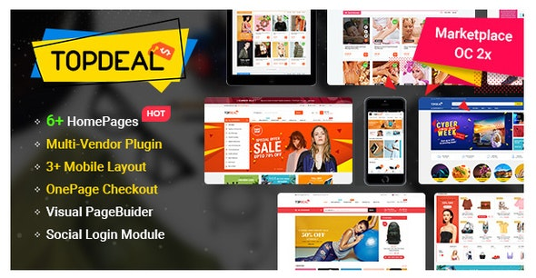 TopDeal v1.0.7 – MarketPlace | Multi Vendor Responsive OpenCart 3 & 2.3 Theme with Mobile-Specific Layouts