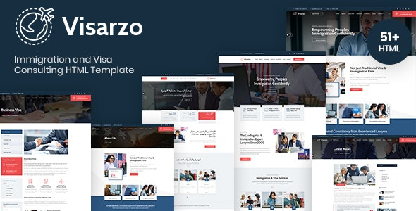 Visarzo – Immigration and Visa Consulting HTML Template - Business Corporate