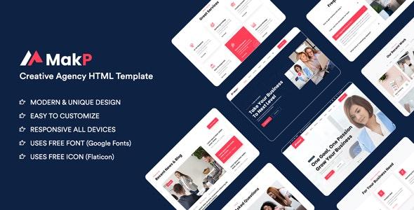 Makp – Creative Agency HTML Template - Creative Site Templates