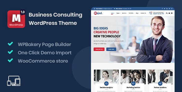 Majed - Business Consulting WordPress Theme - Business Corporate