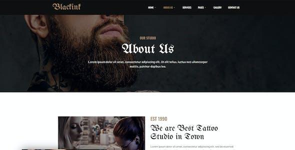 Blackink - Tattoo Studio Elementor Template Kit
