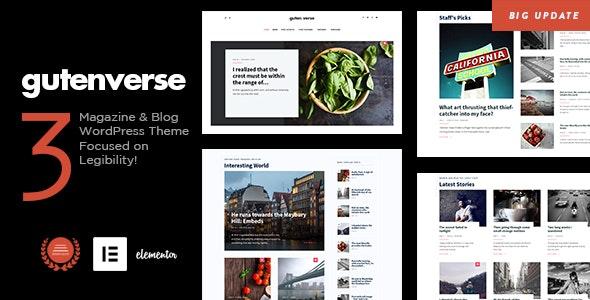 GutenVerse - Magazine and Blog Theme - News / Editorial Blog / Magazine