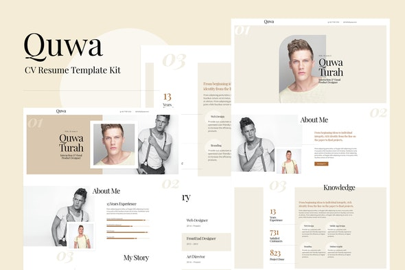 Quwa - CV Resume Template Kit - Personal & CV Elementor
