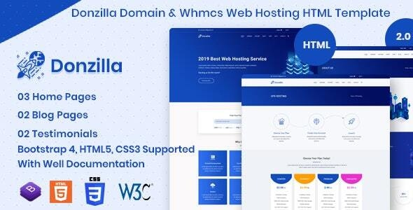 Donzilla - Domain and WHMCS Hosting HTML Template - Hosting Technology