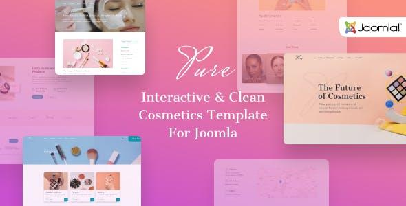 Download Pure - Beauty Salon Joomla Template for Cosmetics & Makeup Artist Portfolio
