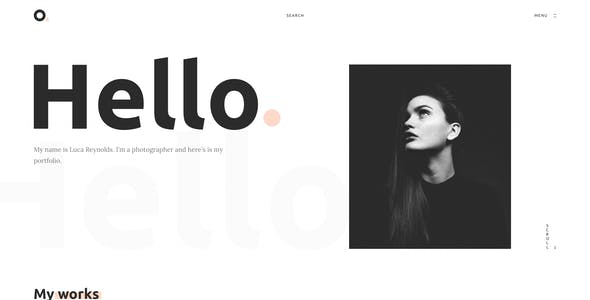 Oxer - Minimal Portfolio Adobe XD Template
