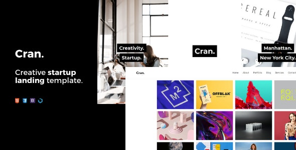 Cran — Creative Startup Landing Template - Creative Landing Pages