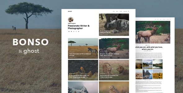 Bonso – Personal Ghost Blog Theme - Ghost Themes Blogging