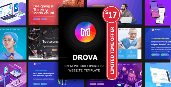 Drova - Creative Multipurpose Onepage Template