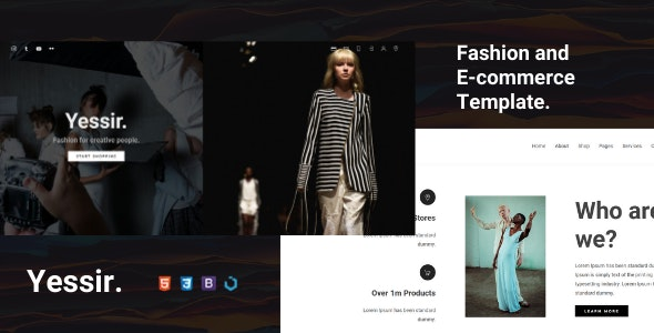 Yesir — Fashion HTML Template - Fashion Retail