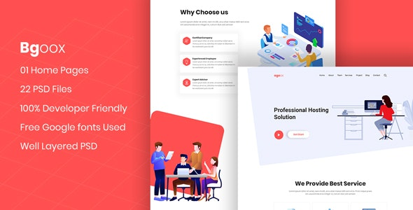 Bgoox - Creative Agency PSD Template - UI Templates