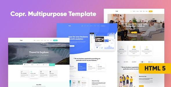 Copr Multipurpose Agency HTML Template - Corporate Site Templates