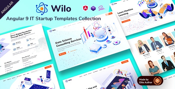 Wilo - Angular 9 IT Startups Templates Collection - Technology Site Templates