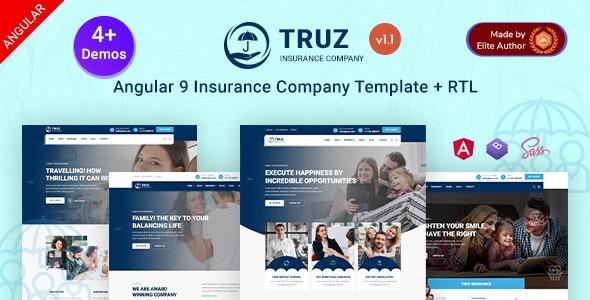 Truz - Angular 9 Insurance Agency Template - Business Corporate