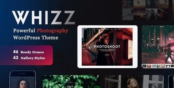 Whizz Photography WordPress - Photography Creative