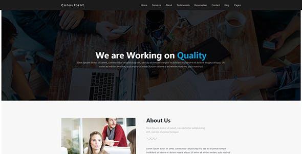 Consultant | WordPress Theme