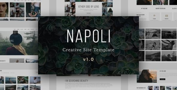Napoli - Modern Photography  Responsive HTML Template - Photography Creative