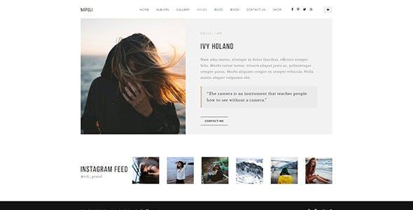 Napoli - Modern Photography  Responsive HTML Template