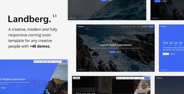 Landberg - Coming Soon Template - Under Construction Specialty Pages