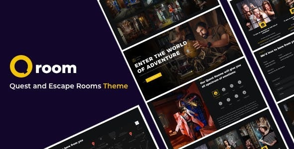 Qroom -  Escape Room WordPress - Entertainment WordPress