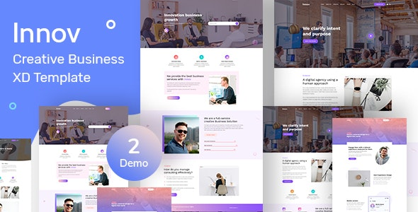 Innov - Creative Business Agency XD Template - Creative Figma