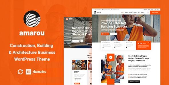 Amarou - Construction & Architecture WordPress Theme - Business Corporate