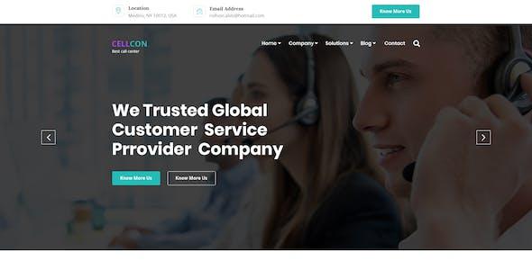 Cellcon - Call Center Business PSD Template