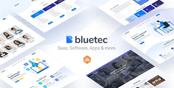 Bluetec - Saas, IT Software, Startup and Coworking Website Template - Software Technology