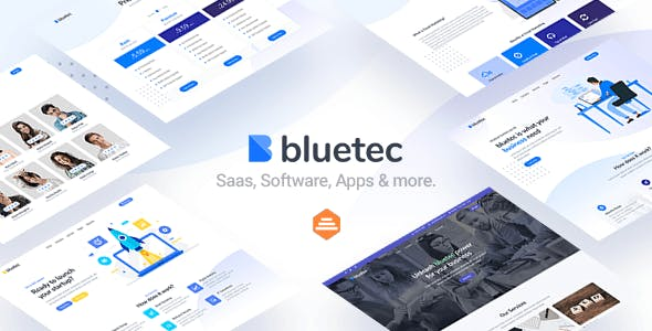 Download Bluetec - Saas, IT Software, Startup and Coworking Website Template