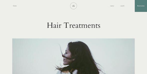 Mykery - Beauty Salon Adobe XD Template