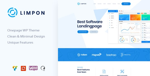 Limpon - Software & App Landing WordPress - Software Technology