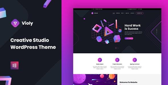 Violy - Creative Studio WordPress Theme - Creative WordPress