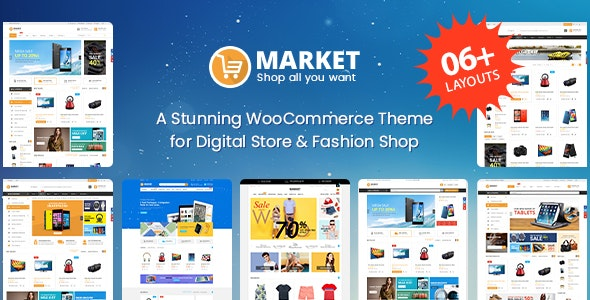Market - Digital Store & Fashion Shop WooCommerce WordPress Theme - WooCommerce eCommerce