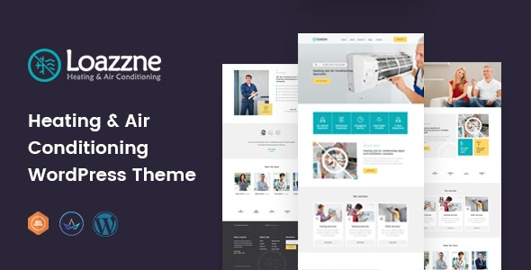 Loazzne - Air Conditioning Services WordPress Theme - Business Corporate