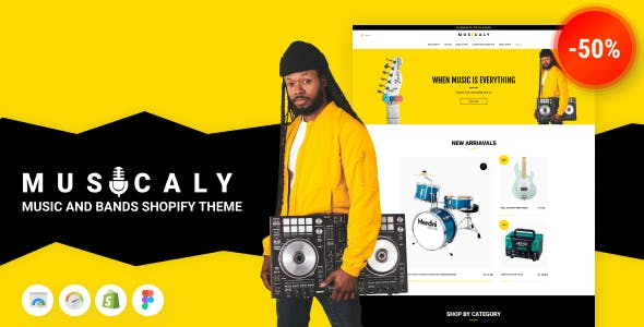 Musicaly - Shopify Music Shop Theme - Music Band & School